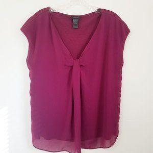 Ann Taylor Red Raspberry Shell Blouse Shirt Top